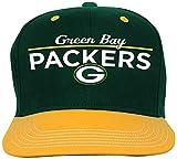 NFL Youth Boys Retro Bar Script Flatbrim Snapback Hat-Hunter-1 Size, Green Bay Packers