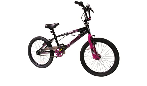 SilverFox - - Bicicleta BMX freestyle, color rosa / blanco: Amazon ...