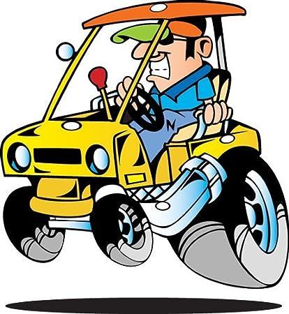 Amazon.com: Vehicle Wall Decals - Cartoon Yellow Golf Cart - 12 inch on amazon garden carts, amazon scooters, amazon beach carts,