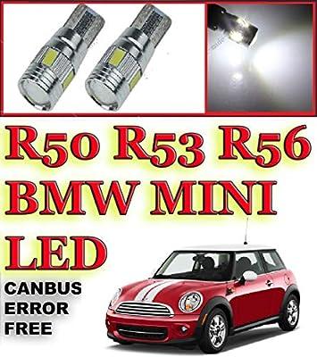 Fits Mini Cooper S R53 Blue 4-LED Xenon Bright Side Light Beam Bulbs Pair