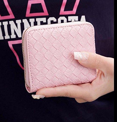 KPHY-Koreanische Frisch Damen Münze Tasche Einfach Gewebte Handtasche Geldbörse Reißverschluss Kurze Änderung Netzsacks Golden ChquM99ZMH