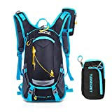 Gohyo Riding Backpacks 20L Waterproof Outdoors Traveling Rucksack Hiking Daypacks Trekking Backpacks for Men Women With a Small Zipper Bag Upgrade Style (Blue)