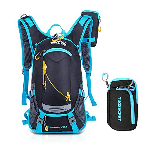 Price comparison product image Riding Backpacks 20L Waterproof Outdoors Traveling Rucksack Hiking Daypacks Trekking Backpacks for Men Women With a Small Zipper Bag Upgrade Style ( Blue )