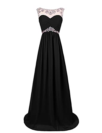 Dresstells reg; Long Chiffon Prom Dress with Beadings Wedding Dress Maxi Dress Bridesmaid Dress
