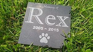 "Personalised Pet Stone Memorial Marker Granite Marker Dog Cat Horse Bird Human 6"" X 6"" Custom Design Personalizd Labrador Golden Retreiver"