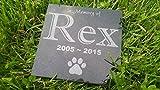 Personalised Pet Stone Memorial Marker Granite Marker Dog Cat Horse Bird Human 6″ X 6″ Custom Design Personalizd Dalmatian Doberman Pinscher