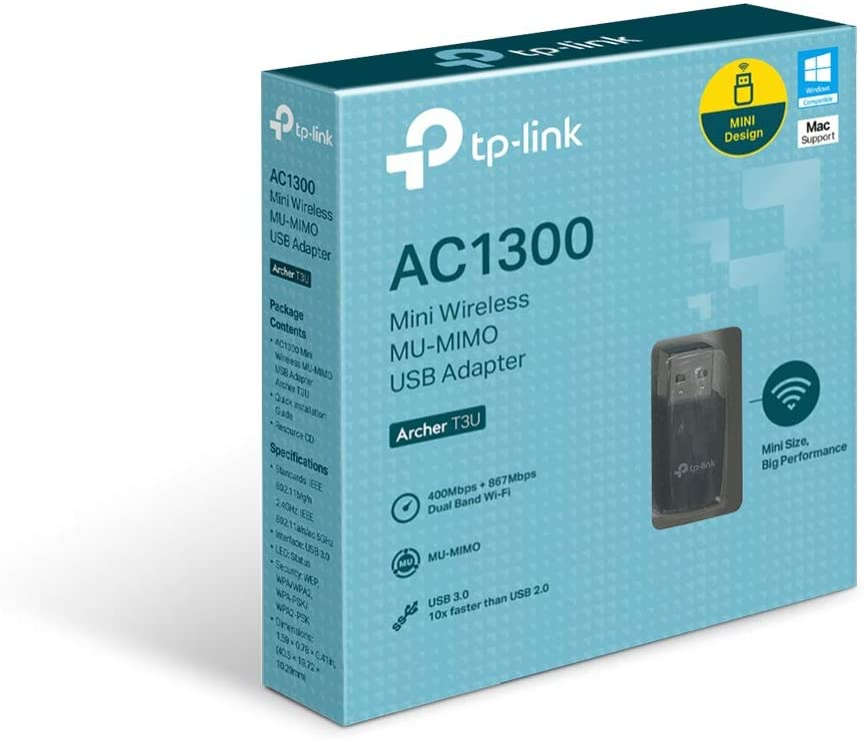 Tp Link Archer T3u Ac1300 Mu Mimo Usb 3 0 Wifi Adapter Computers Accessories