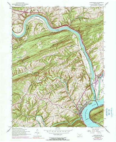YellowMaps Duncannon PA topo map, 1:24000 Scale, 7.5 X 7.5 Minute, Historical, 1952, Updated 1990, 26.9 x 22 in - Paper ()