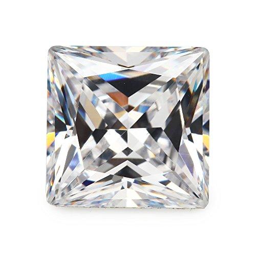 Size 2.5x2.5mm AAAAA White Square Shape Princess Cut Europe Machine Cut Loose CZ Cubic Zirconia Gemstone JIANGYUANGEMS