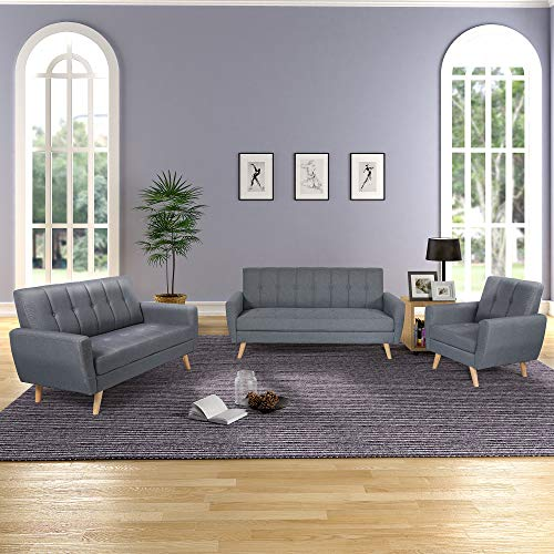 Living Room Sofa Set 3-Seater Sofa Loveseat Chair Sectional ...