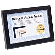 CreativePF [5.5x8.5bk] Black Business License Certificate Frames for Professionals Holds 5.5 by 8.5-inch Self Standing Easel Back with Hanger