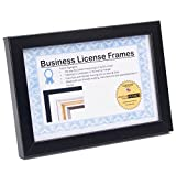 CreativePF [5.5x8.5bk] Professional Black Business License Certificate Frame, Holds 5.5x8.5 Documents, Self Standing