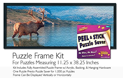 Jigsaw Puzzle Frame Kit - Made to Display Puzzles Measuring 11.25x38.25 Inches by Buffalo Games