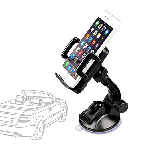 Etekcity Auto-Smart 360° Universal Car Mount Holder - Windshield Cradle (Black)