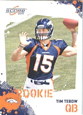 Tim Tebow RC - Denver Broncos (RC - Rookie Card) 2010 Score Football Card - NFL Trading Card in Screwdown Case