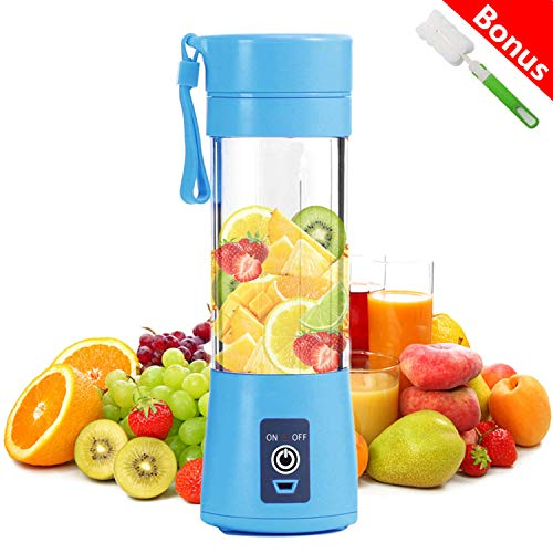 - Portable Blender, bopopo Smoothie Juicer Cup - Six Blades in 3D, 13oz Fruit Mixing Machine with 2000mAh USB Rechargeable Batteries, Detachable Cup, Perfect Blender for Personal Use (FDA, BPA Free)