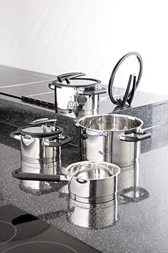 Elo Cookware  Piece Black Pearl Stainless Steel Kitchen Induction Pots