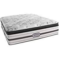 Beautyrest Simmons Recharge Platinum Gabriella Plush Pillow Top Mattress, Air-cool Gel Memory Foam, Pocket Coil Technology, Queen