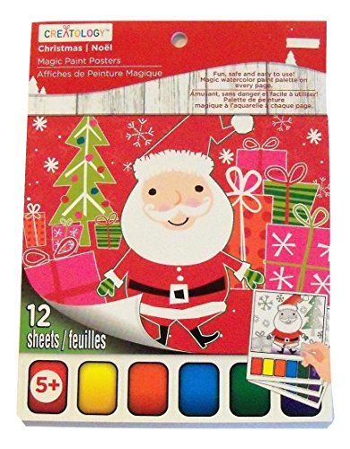 Creatology Magic Paint Posters ~ Christmas Edition (Snowy Christmas, Santa, Reindeer; 12 Posters, 6