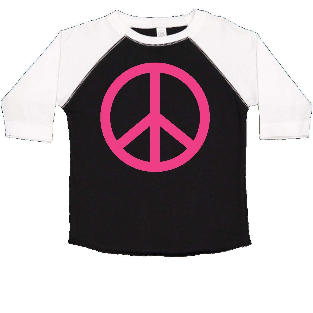 inktastic Pink Peace Sign Toddler T-Shirt
