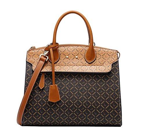 Pvc Shoulder Brown Handbag Joker Zgjq Diagonal Bag Shoulder Woman Fashion Handles Simple Leather With Bag Bag znqTwdS