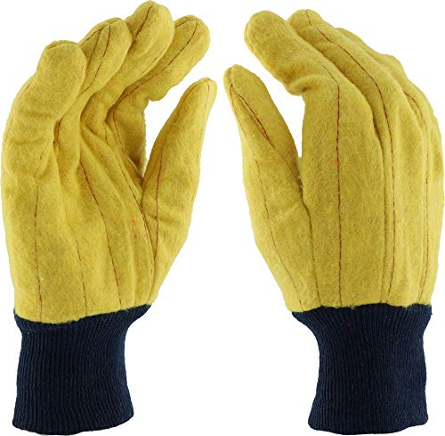 - West Chester FM18KWK Full Chore Glove, L, Yellow (Pack of 12)