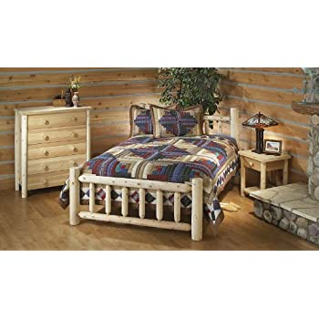 Amazon.com : Rustic Natural Cedar Furniture 100038D Handcrafted Bed ...