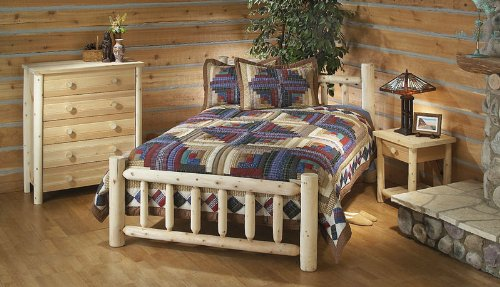 Rustic Natural Cedar Furniture 100038D Handcrafted Bed, King/80, Natural Cedar Frame