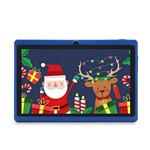 Haehne 7″ Tablet PC, Google Android 9.0 GMS, 1024*600 HD Display Screen, 1GB+16GB Quad Core, Dual Cameras 2.0MP+0.3MP, WiFi, Bluetooth, Blue