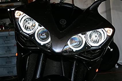 Motorcycle Lighting & Indicators Auto Parts & Accessories Other Motorcycle Lighting & Indicators Yamaha R1 YZF R6S 1998-2018 CCFL Halo Angel Demon Eyes Glass Kit Light Headlight evidenceredes.com.br