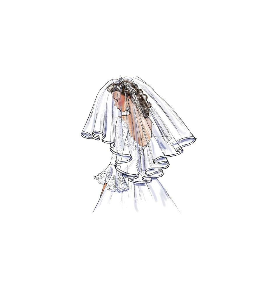 One Size Only Butterick Patterns B4487 Bridal Veils