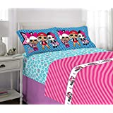 L.O.L. Surprise! Kids Bedding Soft Microfiber Sheet Set Blue Pink - Full Size 4 Piece Pack Blue Pink - Full Size 4 Piece Pack