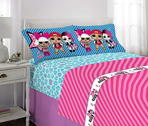 L.O.L. Surprise! Kids Bedding Soft Microfiber Sheet Set Blue Pink - Full Size 4 Piece Pack Blue Pink - Full Size 4 Piece Pack from L.O.L. Surprise!