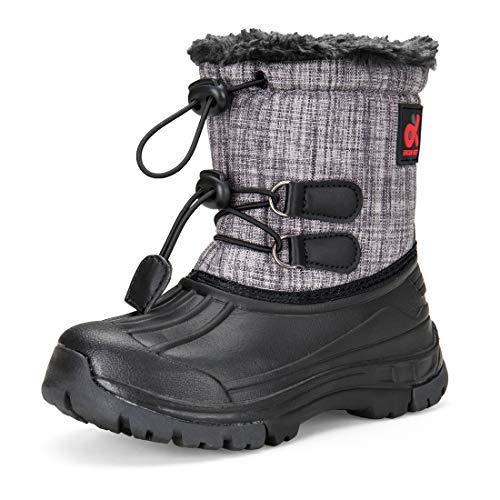 Kid Winter Waterproof Snow DREAM Girl's Boots Grey Boy's Big Cold Outdoor Kid Snow KIDS Weather Little Boots Toddler 5qnva