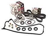 Evergreen TBK224VC 92-95 Honda Civic Del Sol D16Z6 Timing Belt Kit Valve Cover Gasket GMB Water Pump