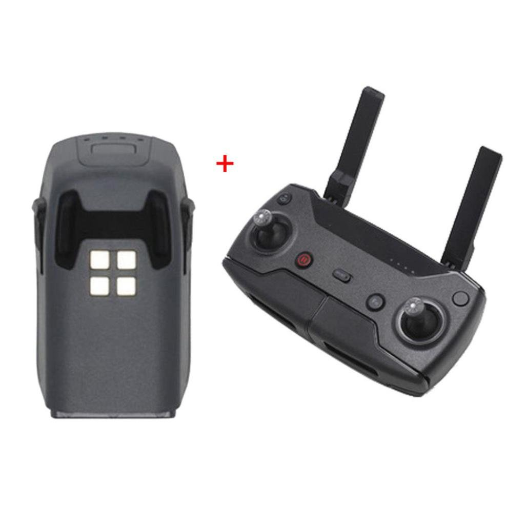 Dreamyth Durable Remote Controller & Intelligent Battery 1480mAh Express Delivery For DJI Spark Drone (Black)