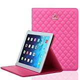 iPad Mini 4 Case, JiiJian PU Leather Protective Stand Smart Folio iPad Case cover for 7.9 Inch iPad Mini 4 - Red