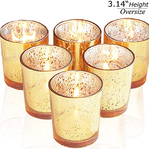 lepecq tealight candle holders speckled gold votive candle holders christmas centerpiece decor mercury glass tealight holders