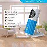 Clever dog Wireless Security WiFi Cameras/Smart Baby Monitor/Surveillance Security Camera with P2P, Night Vision, Record Video, Two-Way Audio, Motion Detection,iPhone Ipad Android(with Adaptor)(Blue)