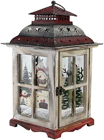 Northlight Snowman Christmas Pillar Candle Lantern
