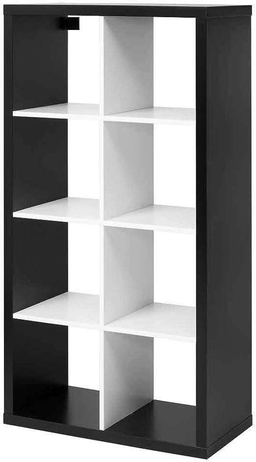 IKEA ASIA KALLAX - Estantería, Color Negro y Blanco: Amazon ...