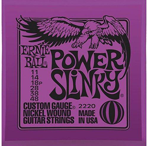 Ernie Ball 2220 Power Slinky Nickel Wound Set Electric Guitar Strings (11 - (Nickel Wound Power Slinky)