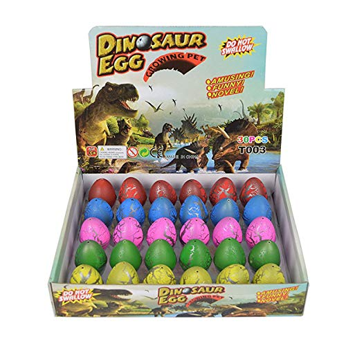 Dinosaur Eggs Toy Hatching Growing Dino Dragon for Children Large Size Pack of 30pcs,Colorful Crack by Yeelan ()