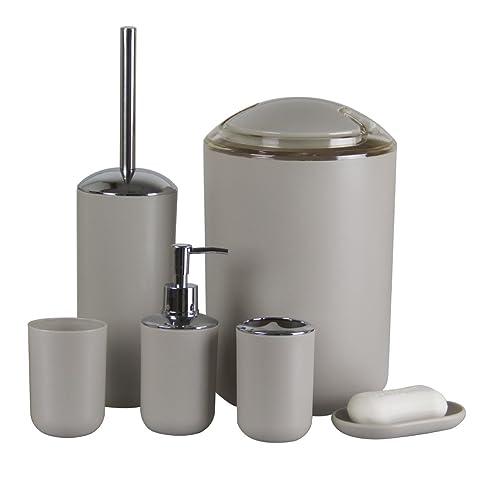 badezimmer zubehriamuq neuen 6 pcs kunststoff badezimmer zubehr setszahnbrstenhalterseifenspender - Badezimmerzubehor