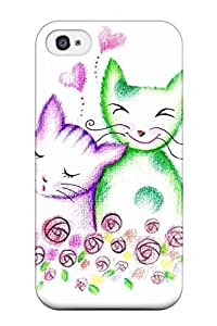 AMGake OAtUrBx1962yzpFR Case Cover Skin For Iphone 4/4s (colored Pencil Cats)