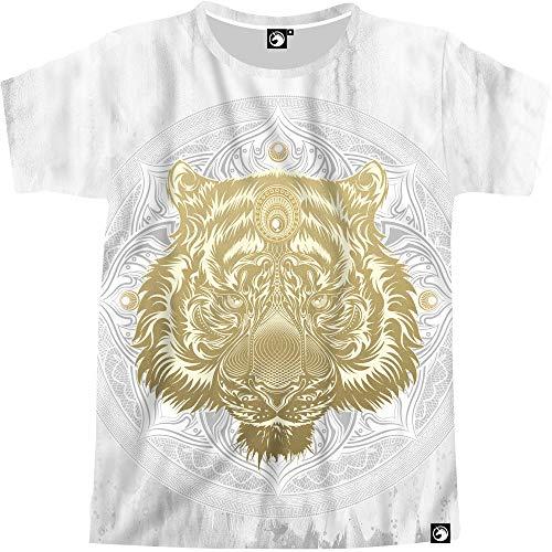 Electrik Unicorn Cool Shirts for Men Vibrant Print EDM Clothing Trippy Animal Zodiac Shirt (Tiger Mandala, XX-Large) ()