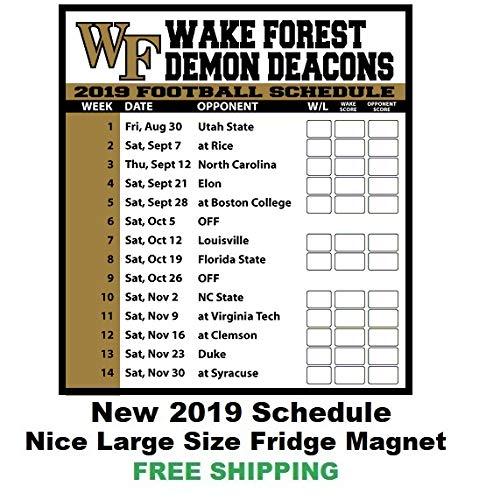 2019 NCAA Wake Forest Demon Deacons Football Schedule Fridge Magnet #195