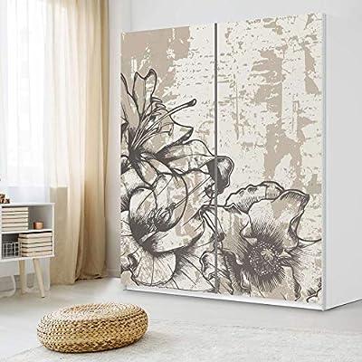 De lámina de IKEA PAX armario de 236 cm de altura - puerta corredera/diseño de la vendimia de la etiqueta engomada Styleful 1/de la decoración element: Amazon.es: Hogar