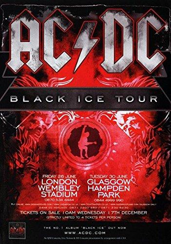 (AC/DC Black Ice 2009 UK Tour - London Wembley Stadium Photo Print Poster 024 A3)