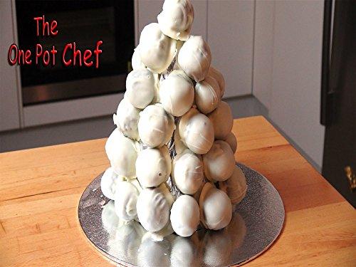 White Chocolate Christmas Truffle Tower